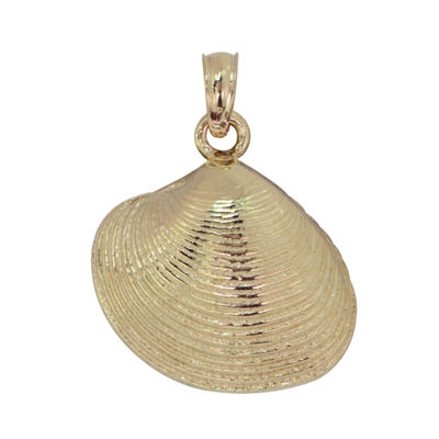 14K Gold Shell Pendant
