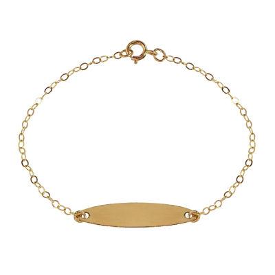 Girls 14K Gold Id Bracelet
