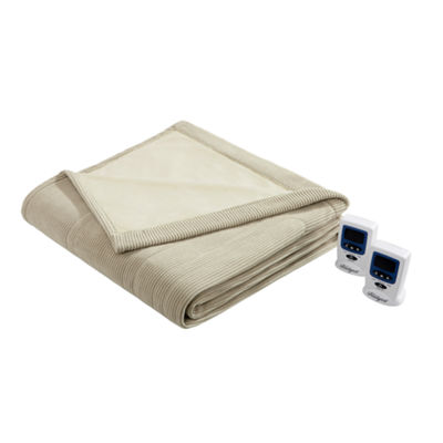Beautyrest® Ribbed Microfleece Heated Blanket
