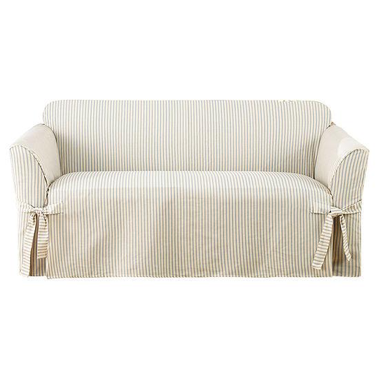 SURE FIT® Ticking Stripe 1-pc. Loveseat Slipcover
