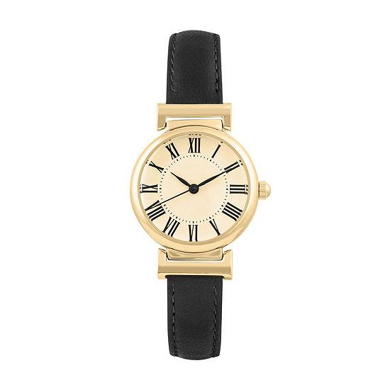 Mixit Womens Black Strap Watch-Pts2236gdbk
