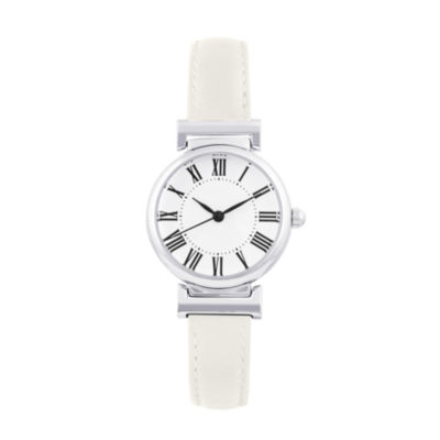Mixit Womens White Strap Watch-Pts2236slwt