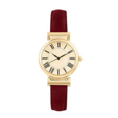 Mixit Womens Red Strap Watch-Pts2236gdwn