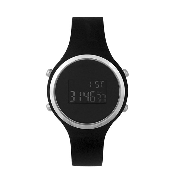 Mixit Led Womens Black Strap Watch-Pts2034slbk