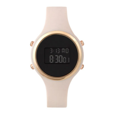 Mixit Led Womens Pink Strap Watch-Pts2034rglp
