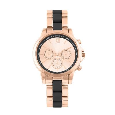 Geneva Womens Rose Goldtone Bracelet Watch-Pts2899rgbk