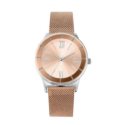 Geneva Womens Rose Goldtone Bracelet Watch-Pts3076rg