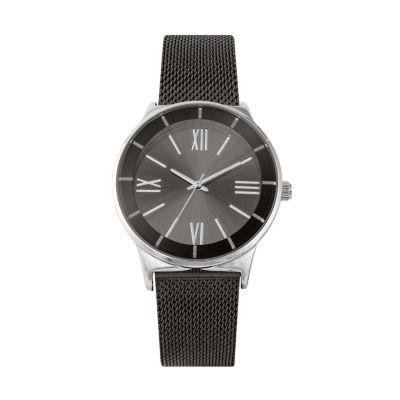 Geneva Womens Black Bracelet Watch-Pts3076gm