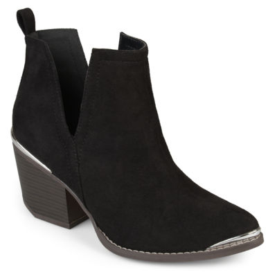 Journee Collection Womens Issla Booties Stacked Heel Pull-on