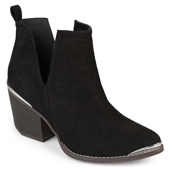 Journee Collection Womens Issla Booties Stacked Heel