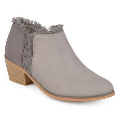 Journee Collection Womens Moxie Booties Block Heel Pull-on