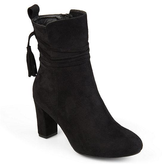 Journee Collection Womens Zuri Booties Block Heel