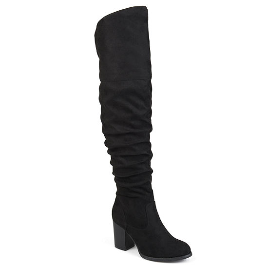Journee Collection Womens Kaison Dress Boots Stacked Heel