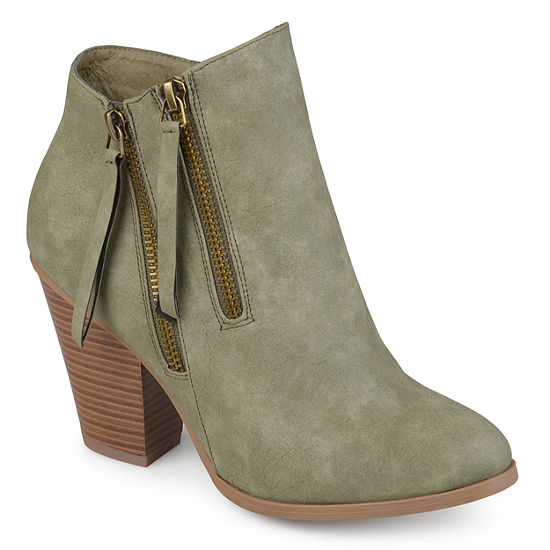 Journee Collection Womens Vally Booties Stacked Heel