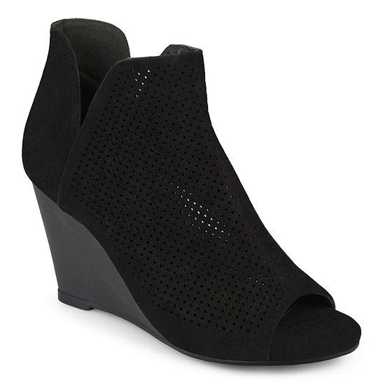 Journee Collection Womens Andies Wedge Heel Pull-on Booties
