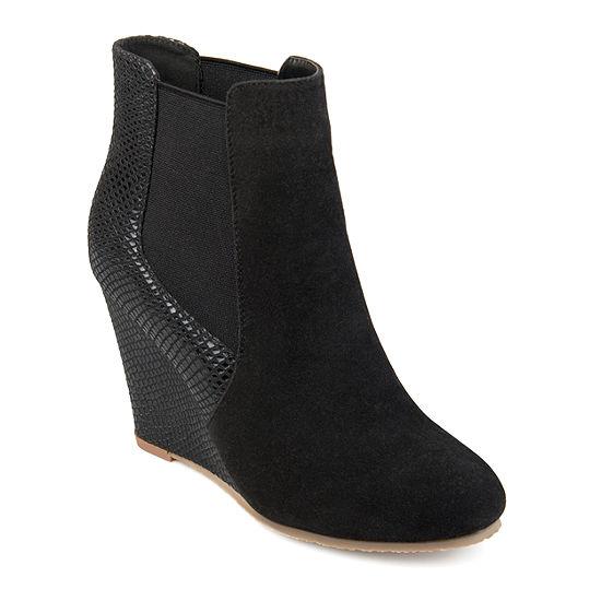 Journee Collection Womens Linae Booties Wedge Heel