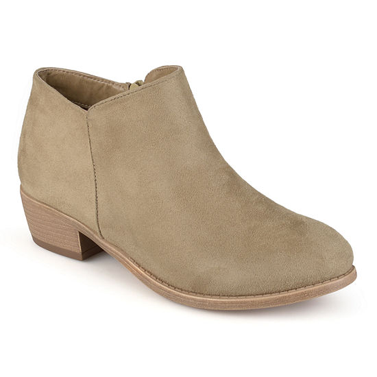 Journee Collection Womens Sun-Wd Booties Block Heel Wide Width