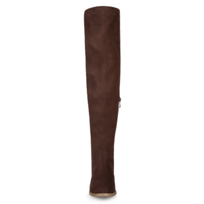 Journee Collection Pitch-Wc Womens Over the Knee Boots