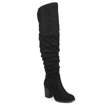 Journee Collection Womens Kaison-Xwc Dress Boots Stacked Heel Zip