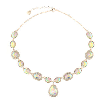 Monet Jewelry Womens White Round Y Necklace