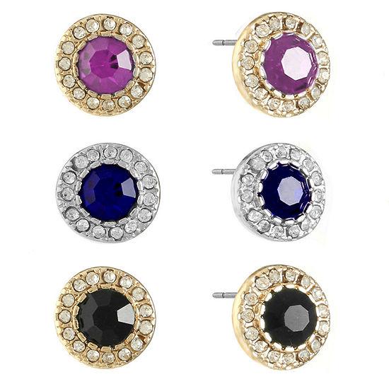 Monet Jewelry 3 Pair Multi Color Earring Set