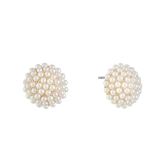 Monet Jewelry Simulated Pearl 16mm Stud Earrings