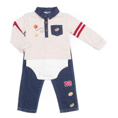 Little Lass 2-pc. Bodysuit Set-Baby Boys