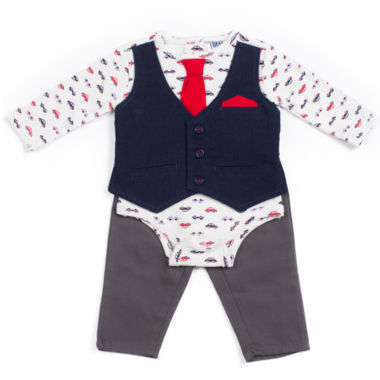 Little Lass 2-pc. Pattern Pant Set Baby Boys