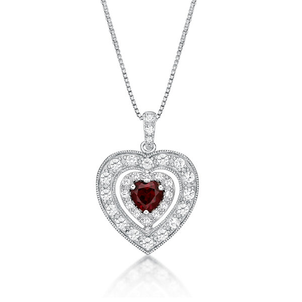 Womens red ruby sterling silver pendant necklace jcpenney womens red ruby sterling silver pendant necklace aloadofball Choice Image
