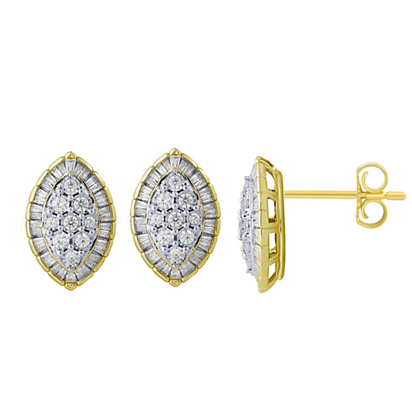 5/8 CT. T.W. Round White Diamond 10K Gold Stud Earrings
