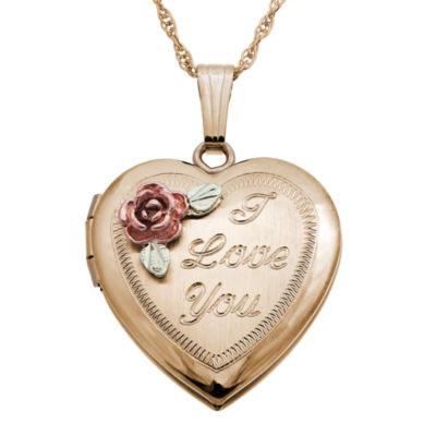 Landstroms Black Hills Gold 10K Gold Locket Necklace