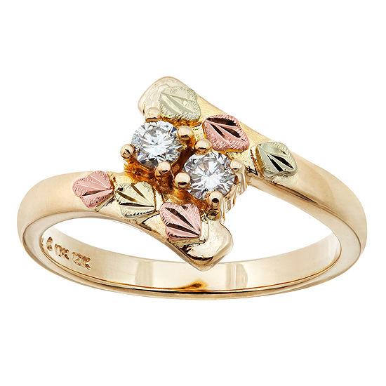 Landstroms Black Hills Gold Womens Diamond 10K Gold Cocktail Ring