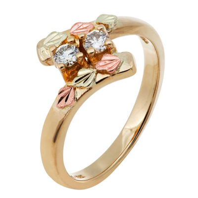 Landstroms Black Hills Gold Womens Diamond 10K Gold Cocktail Ring