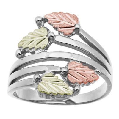 Landstroms Black Hills Gold Womens Sterling Silver Bypass Ring
