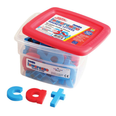 Educational Insights AlphaMagnets® — Jumbo Color-Coded Lowercase (42 Pieces)