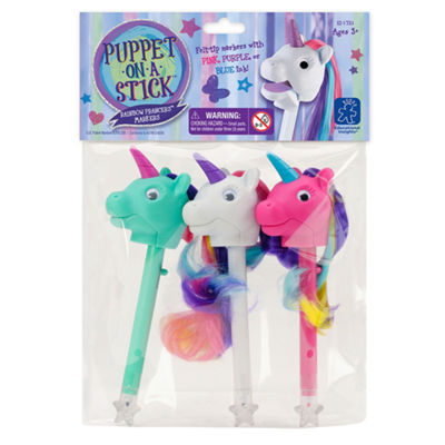 Educational Insights Rainbow Prancers™ Puppet-on-a-Stick™ Markers 3-Pack