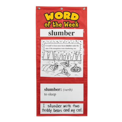 Educational Insights Word of the Week Vocabulary Pocket Chart Grades 3-4
