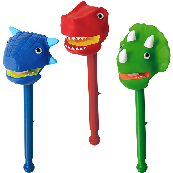 Educational Insights Dinosaurs Puppet-on-a-StickCounter Display of 9  (3 each)