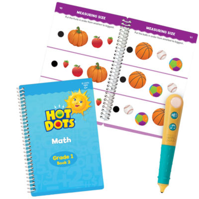 Educational Insights Hot Dots® Jr. Let's Master Grade 1 Math Set with Hot Dots Pen
