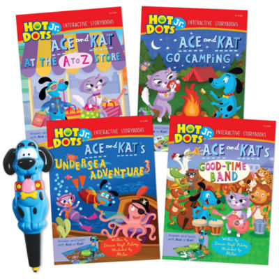 Educational Insights Hot Dots® Jr. Interactive Storybooks 4-Book Set with Ace Pen
