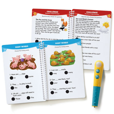 Educational Insights Hot Dots® Jr. Let's Master Grade 1 Reading Set with Hot Dots Pen