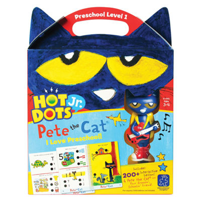 Educational Insights Hot Dots® Jr. Pete the Cat®— I Love Preschool! Set with Pete Pen