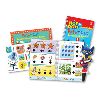 Educational Insights Hot Dots® Jr. Pete the Cat®— Preschool Rocks! Set with Pete Pen
