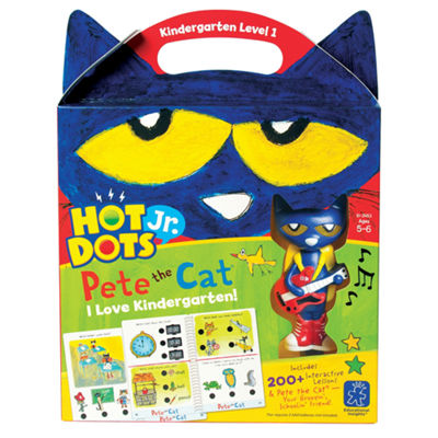 Educational Insights Hot Dots® Jr. Pete the Cat®— I Love Kindergarten! Set with Pete Pen