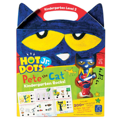 Educational Insights Hot Dots® Jr. Pete the Cat®— Kindergarten Rocks! Set with Pete Pen