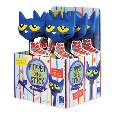 Educational Insights Pete the Cat® Puppet-on-a-Stick™ Counter Display of 6