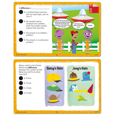 Educational Insights Hot Dots® Laugh It Up! MathVocabulary Cards — Grades 1-3