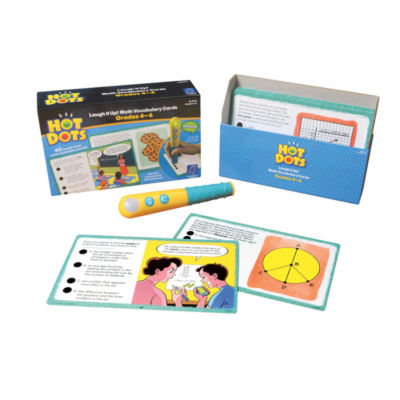 Educational Insights Hot Dots® Laugh It Up! MathVocabulary Cards — Grades 4-6