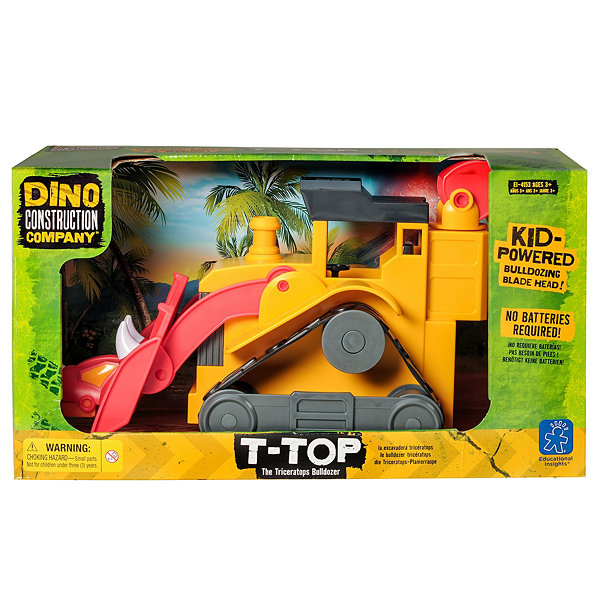 Educational Insights Dino Construction Company™—  T-Top the Triceratops Bulldozer