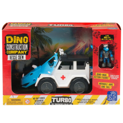 Educational Insights Dino Construction Company™Rescue Crew  —  Turbo the Triceratops Police SUV